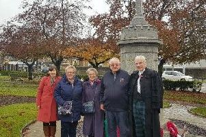 Rt Rev Colin Sinclair, his wife Ruth and Thomas Caldwells relatives  George Reid, Joan Reid and Jeanette Johnston.