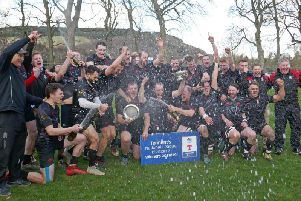 Biggar celebrate after winning last season's Tennent's National League Division 2