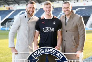 Lee Miller and David McCracken hope Ben Hall's promotion experiences can be repeated at Falkirk. Picture: Michael Gillen.