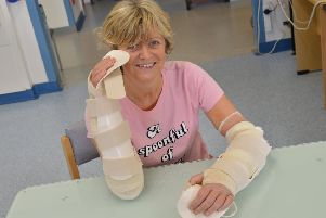 In January 2014, Cor Hutton launched Finding Your Feet - a charity to help amputees. The year before, sepsis almost claimed her life and both her hands and legs, below the knee, were amputated. In January last year, Cor received the first double hand transplant in Scotland.