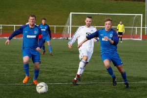 Mark Weir (left) has been a Carluke Rovers player for 20 years and is no in the managerial hotseat at John Cumming Stadium