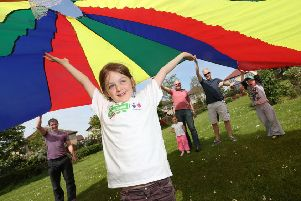 Flying the flag...to help promote The Big Lunch in Scotland which will take place in communities across the country on Sunday, June 3, 2018.