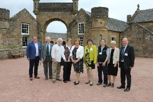 South Ayrshire councillors at the Biosphere Conference at Culzean Castle with UNESCO reps, certified businesses and Cabinet SecretaryFiona Hyslop