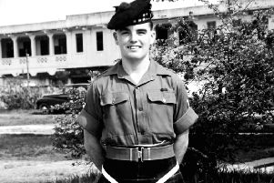 Far from forgotten...David Lawrie during his national service in Singapore. It took six weeks to get there by boat.