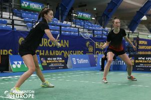 Sarah Sidebottom (right) and women's doubles partner Lauren Middleton reached the last 16 at last week's F2 Forza Slovak Open