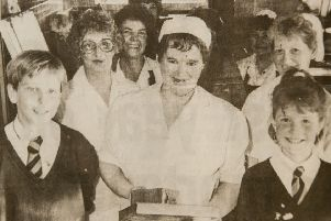 The 'golden age' of school meals in 1989 when dinnerlady Barbara Coulter retired from New Lanark Primary