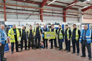 Gil Paterson visited Dieselec Thistle as part of Scottish Apprenticeship Week.