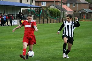 Newburgh swatted aside Kirkcaldy YM 5-1 in this fixture. Pic by Graham Strachan.