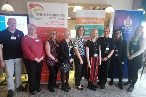 Police and partners from the South Ayrshire Violence against women partnership at a conference held at Ayrshire College in Ayr.