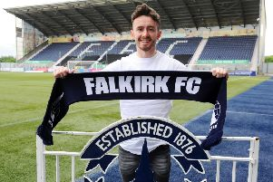 Falkirk third signing for the new season, Aidan Connolly. (Picture: Michael Gillen)