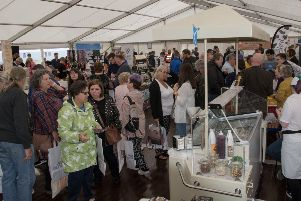 Thousands flocked to the two day Ballantrae Food Festival despite the poor weather.