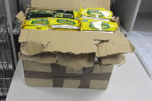 Tobacco seized by HMRC officers from a package addressed to Lynda Robb's Bo'ness home.