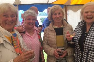 Rotarians wives took the time for a catch-up and helped raise funds at the same time.