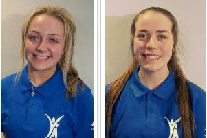 South Ayrshire Young Ambassadors: Eve Kennedy and  Emily McCaughie, both 16.