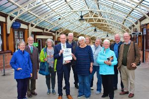Sheena Inglis, Bookshop Manager donates �1000 to Waverley on behalf of The Friends of Wemyss Bay Station
