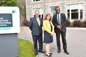 Banff and Buchan MP David Duguid welcomes the new UK Energy Minister to Aberdeen