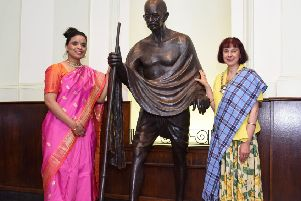 Anju Ranjan, the The Consul General of India with Provost Moonie