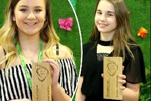 Left: Rachael Roxburgh, winner of the Ann Shaw Award and Christmas Star Award winner Evelyn Sweeny (right).