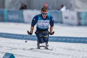 Scott Meenagh in action at the Winter Paralympics in PyeongChang