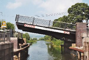 The lift bridge over the canal at Twechar has been shut since February