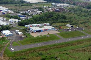 The incident took place at Cumbernauld Airport in May