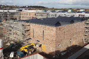 The character of the �37m Cumbernauld Academy and Cumbernauld Theatre development is now becoming increasingly apparent as the project enters the latter stages of construction.