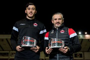29/11/18'BROADWOOD STADIUM - CUMBERNAULD'Clyde manager Danny Lennon and defender Dylan Cogill win the Ladbrokes League 2 Manager and Player of the Month Awards for November