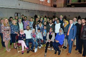 A previous intake on Syrian refugees are welcomed to North Lanarkshire in 2016