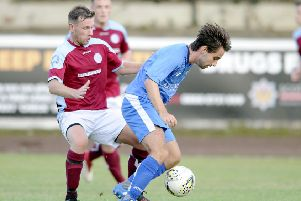 Danny Smith scored Kilsyth's opener against Darvel (archive pic: Michael Gillen)
