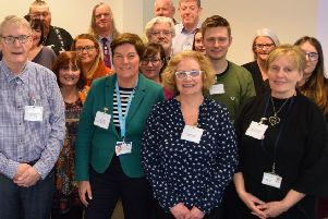 Liz McWhinney (front second right) with representatives from Lanarkshire Links and other mental health groups at a recent Mental Health & Wellbeing Strategy focus group