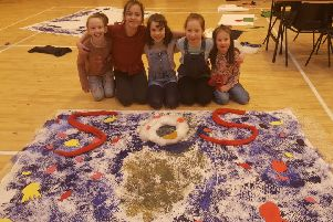 The children have also been taking part in art classes at Taigh Chearsabagh, where they made banners and posters to support their climate change message.