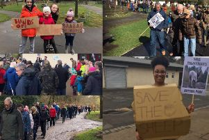 Around 200 people turned out to protest North Lanarkshire Council's decision to remove the animals from Palacerigg