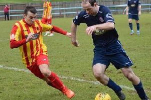 Cumbernauld United and Rossvale are battling with Arthurlie for one remaining promotion place (pic courtesy of HT Photography/@dibsy_)