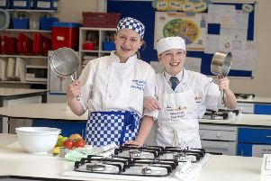 SCOTS YOUNGSTERS ARE TOP UK CHEFS - images issued on behalf of the High School of Glasgow, from where pupils Amy Ashton (left) and Jessica Mitchell, are two of the country's best young chefs.''Fourteen year old Jessica Mitchell from Giffnock has just been crowned the 2019 Springboard UK Future Chef, beating off over 14,000 other pupils from across the country in the annual competition to encourage 12-16 years olds take up catering.''The judges said Jessica 'stood out from the crowd' with her winning two course meal prepared and cooked in two hours. Her main course was chicken breast with butternut squash, confit chicken leg and fondant potatoes followed by a dessert of apple and frangipane tart with a vanilla pod parfait and carmelised apple.'?''I just love cooking', says Jessica, a 3rd year pupil at the High School of Glasgow? 'I want to be a chef and have a dream of setting up my own restaurant in the future'.''And this Saturday (28th April) 13-year old Amy Ashton from Bearsden heads for Leeds for the UK fi
