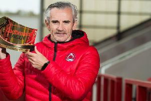 Ladbroke League 2 Manager of the Year Danny Lennon (pic by SNS)