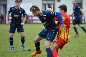 Conor Scullion was on target to round off Cumbernauld's win over Girvan (archive pic by HT Photography)