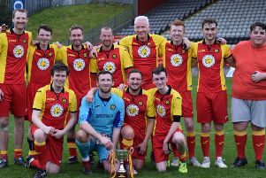 Firhill Cup winners 2019 Team Power Press (pic courtesy of Partick Thistle FC)