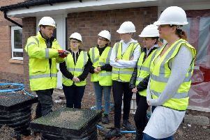 New College Lanarkshire students toured one of North Lanarkshire Council's new developments in Abronhill