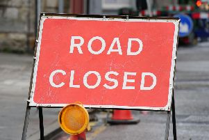A section of Aurs Road will be closed for up to four weeks.
