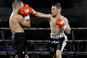 Monbty Ogilive will face Nathaniel Collins in Paisley in October (pic Michael Gillen)