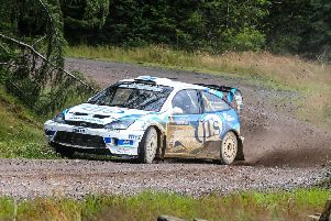 Euan Thoburn at the wheel (picture by Eddie Kelly).