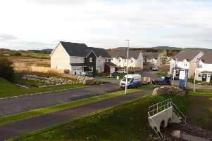The Lochside of Leys development under construction at Hill of Banchory