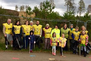 Volunteers ready for the litter pick