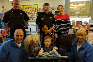 The Shetland ponies were popular visitors to Banchory Primary School