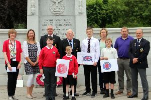 The design competition winners at the war memorial