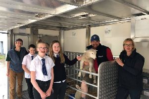 Alford pupils during their visit to the rural college