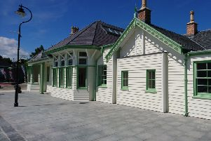 The historic station has been rebuilt. Picture: Aberdeenshire Council
