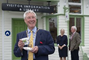 Aberdeenshire Provost Bill Howatson opened the restored station building on Monday.