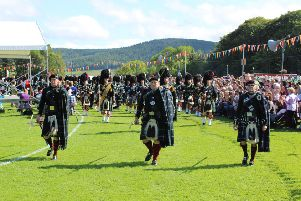The mile will finish in time for the Lonach Highlanders' march.