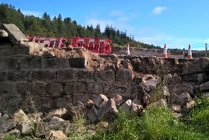 The Spittal Burn Bridge was damaged earlier this month. Picture: Aberdeenshire Council